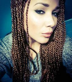 honey blonde senegalese box braids color 4 and 30 with style is box braids