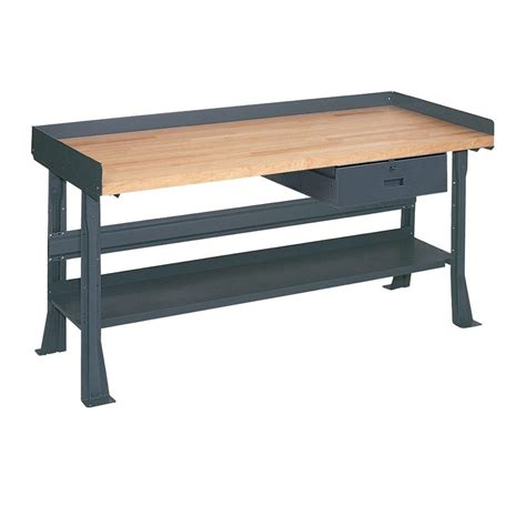 edsal bench edsal 34 in h x 60 in w x 30 in d maple butcher block