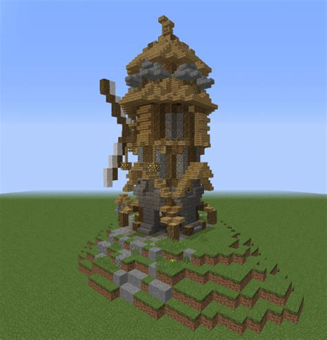 Detailed Medieval Windmill - GrabCraft - Your number one ... Minecraft Windmill Farm