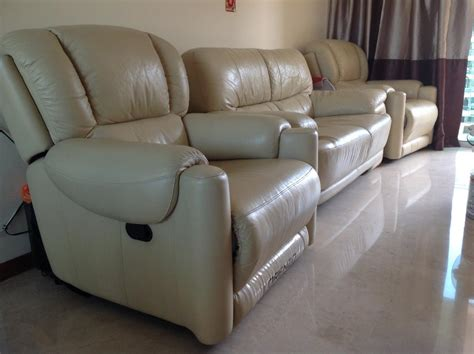 Leather Sofa Singapore Lorenzo Analine Leather Sofa Set Singapore