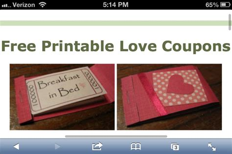 Handmade Coupon Book For Boyfriend - free printable coupons for a s day gift