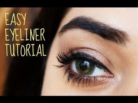 eyeliner tutorial beginners easy eyeliner tutorial for beginners corallista youtube