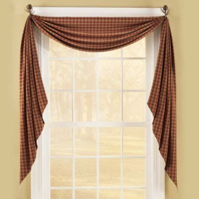 fishtail curtain swags sturbridge wine fishtail swag 145 quot x 25 quot primitive home