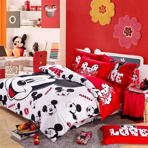 micky mouse bedroom red and white mickey mouse head kids bedding for christmas