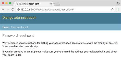 Django Tutorial User Authentication | django password reset tutorial william s vincent