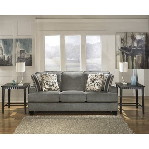 yvette steel sofa loveseat ashley yvette sofa in steel 7790038