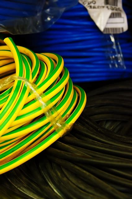 black blue business cable cables electric