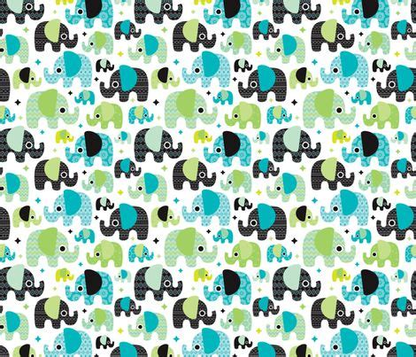 printable baby boy wrapping paper blue boy aztec elephant parade fabric by littlesmilemakers