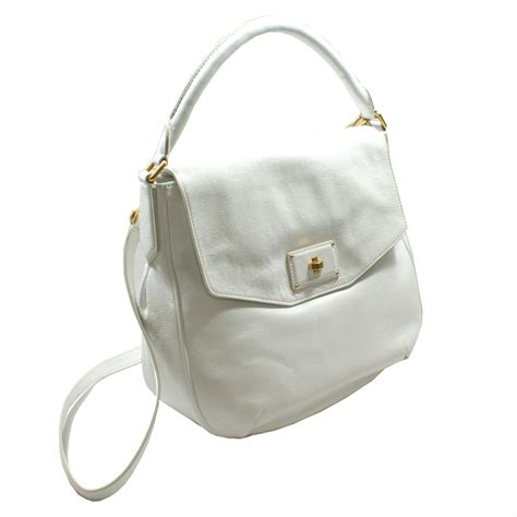 white leather bag marc by marc white leather hobo crossbody bag m0002651 marc by marc m0002651