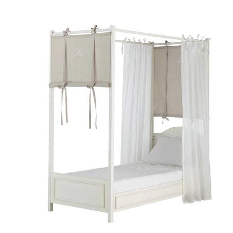 tende per baldacchino 4 tende per baldacchino in cotone bianco talpa h 150 cm