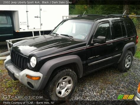 black jeep liberty 2002 black 2002 jeep liberty sport 4x4 slate gray