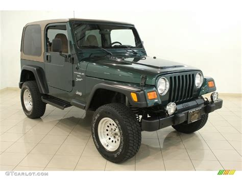 Forest Green Jeep Forest Green Pearl 2000 Jeep Wrangler Sport 4x4 Exterior