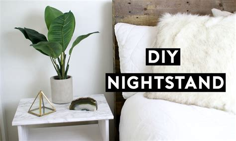 How To Decorate A Bedroom Dresser diy marble nightstand affordable room decor simple ikea