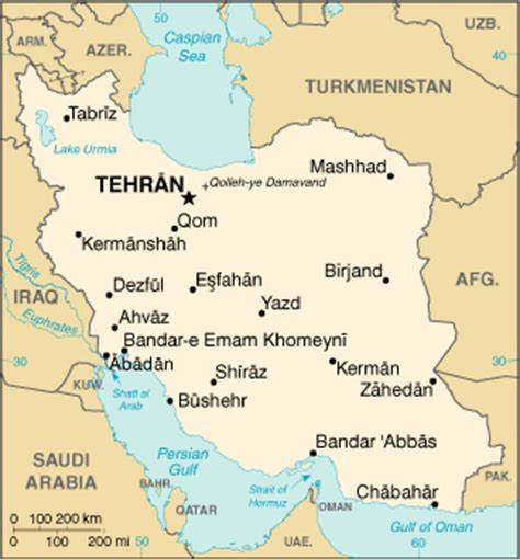 middle east map tehran iran global issues
