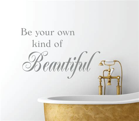 be your own of beautiful vinyl wall decal bathroom