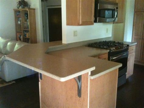 breakfast bar countertop kitchen countertop with custom raised breakfast bar yelp