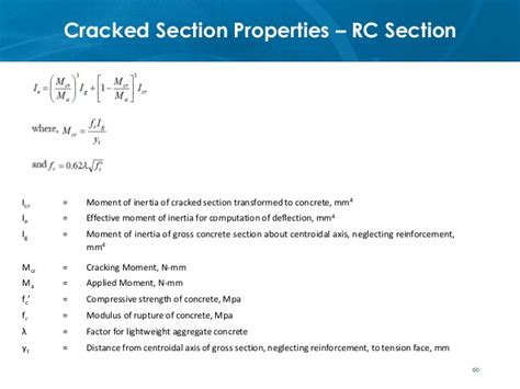 moment of inertia of cracked section ce72 52 lecture 3a section behavior flexure