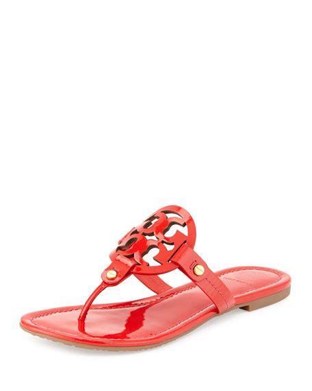 burch miller patent sandal burch miller patent logo sandal vermillion