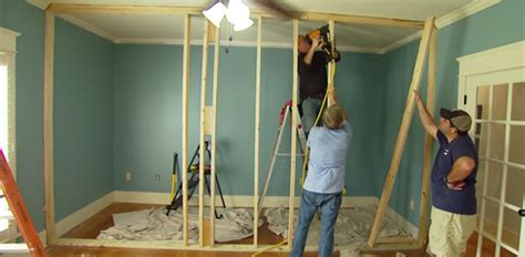 Adding An Interior Wall by How To Build A Non Load Bearing Interior Wall Today S