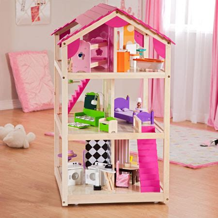 kidkraft so chic doll house let your kids have great fun and boost their creativity with so chic dollhouse