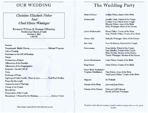 Wedding Reception Program Template Shatterlion Info Reception Program Template