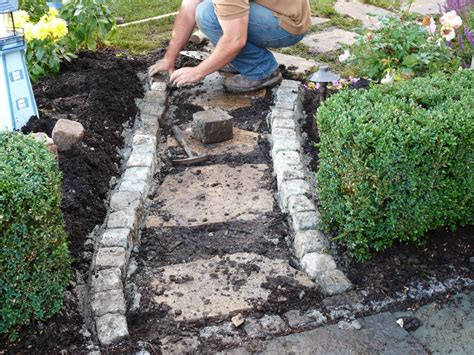 Mortar Mix For Patio Building A Stone Walkway How Tos Diy