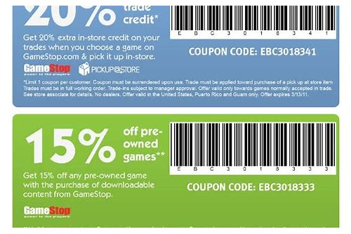 gamestop online coupon codes