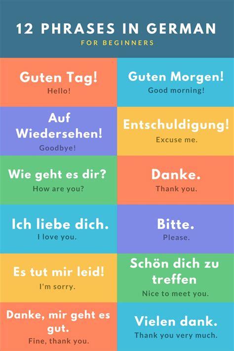 basic german phrases  travel learn german german words german grammar