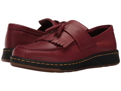 dr martens loafers with tassels dr martens edison kiltie tassel loafer cherry