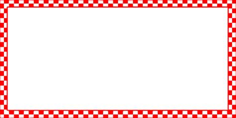 red and white checkered border clipart