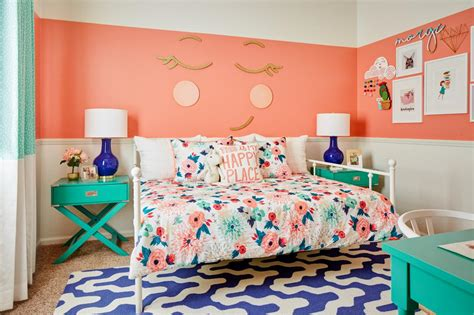 happy bedroom how to make traditional floral prints look modern hgtv s