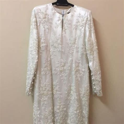 baju kurung moden untuk akad nikah baju kurung moden with veil for nikah tunang fesyen
