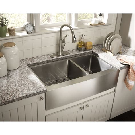 kitchens sinks schon farmhouse 36 quot x 21 25 quot undermount double bowl
