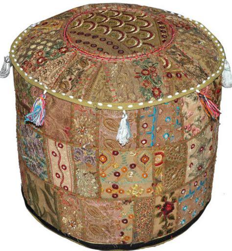 moroccan bean bag pouffe home accessory pouf patchwork pouffe moroccan ottoman