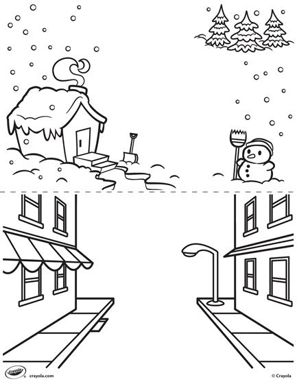 the street art colouring 1909855901 first pages winter and street coloring page crayola com