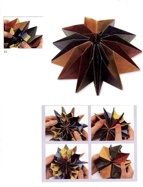 Firework Origami - fireworks origami diagram of the modules