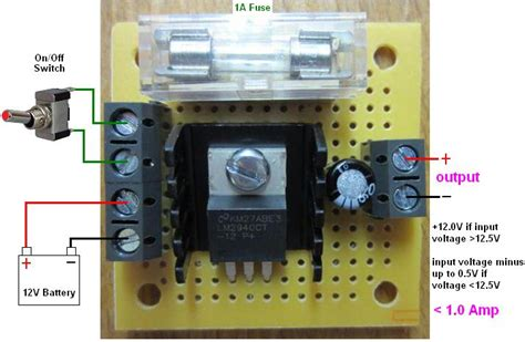 12 volt resistor switch new mini 12 volt regulator with fuse and switch terminals reuk co uk