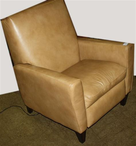 reclining leather club chair flexsteel leather reclining club chair