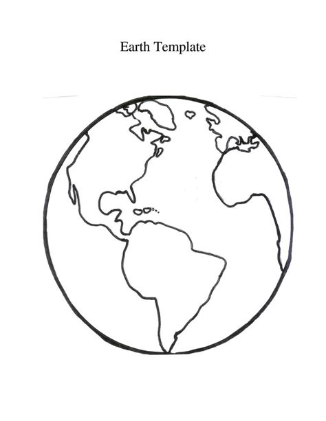 The Globe Outline by Globe Printable Globe Template Artsy Fartsy Signs Globes And Roads