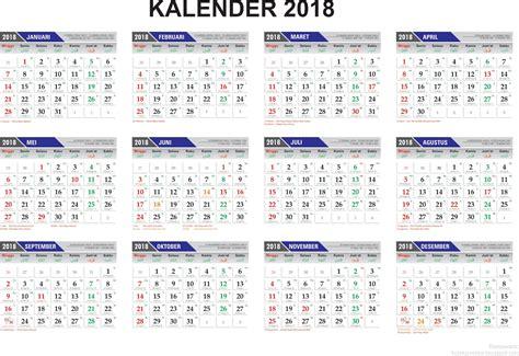 Kalender 2018 Libur Nasional Template Penanggalan Kalender 2018