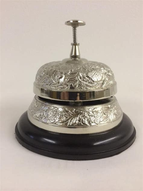 Reception Desk Bell Large Quality Service Bell Reception Counter Desk Restaurant Chrome Shop Hotel