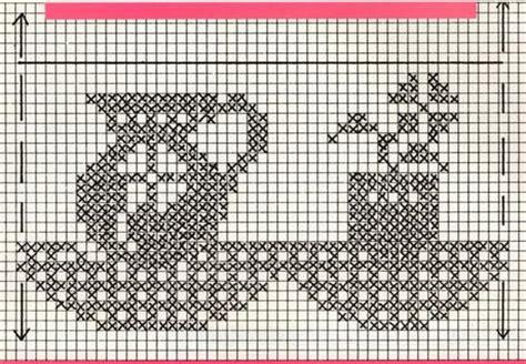 bordure all uncinetto per mensole schemi per il filet bordi per mensole paperblog