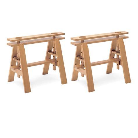tavoli con cavalletti cavalletti leonardo coppia zanotta achille