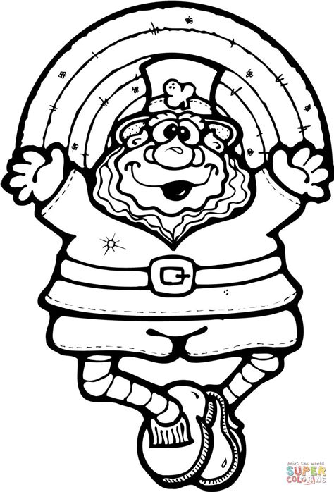 rainbow coloring page with leprechaun rainbow coloring pages page image clipart images grig3 org