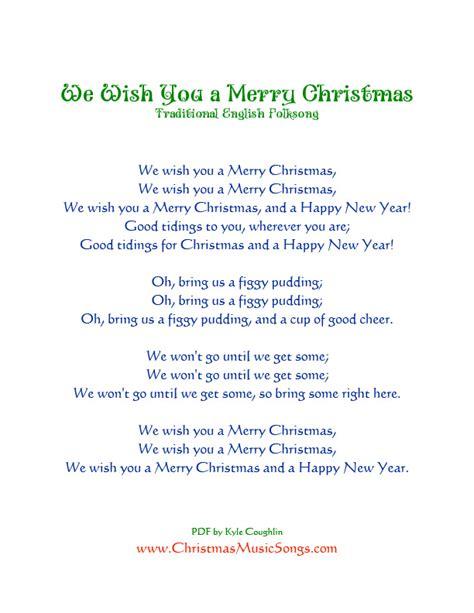 we wish you a merry testo we wish you a merry lyrics