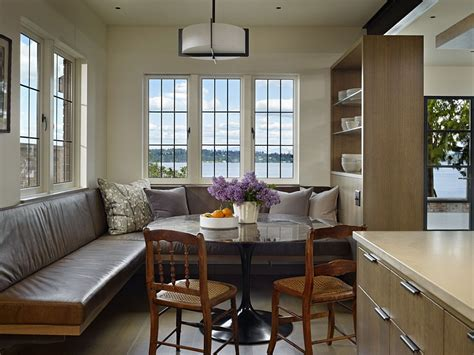 2014 comfort breakfast nook decorating ideas interior classic seattle lakefront house gets a bookish modern