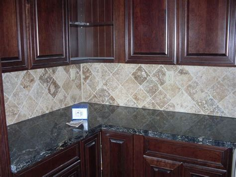 travertine backsplash 6x6 tiles oak house