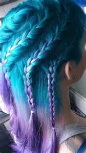 aquamarine hair color aquamarine and purple braided hairstyle hair colors ideas