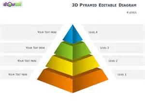 diagrammes pyramides 3d pour powerpoint