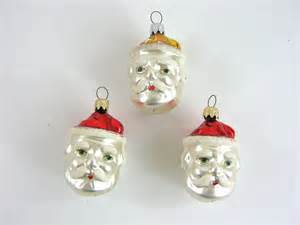 1950s vintage christmas santa ornaments red and by nachokitty
